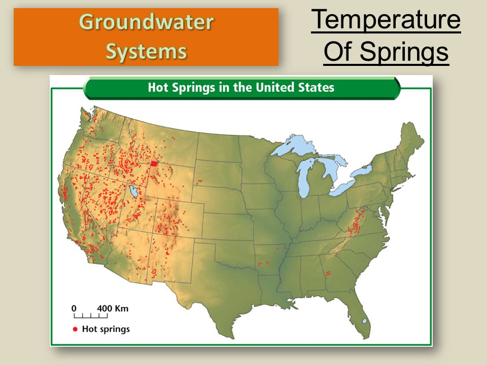 Temperature Of Springs Groundwater Systems