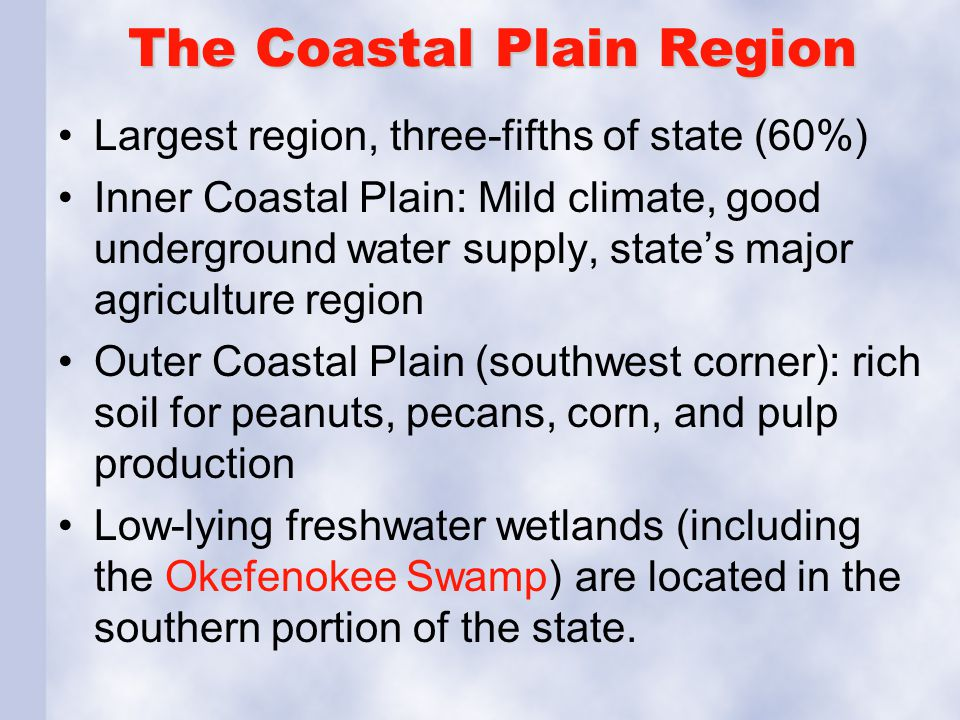 The Coastal Plain Region