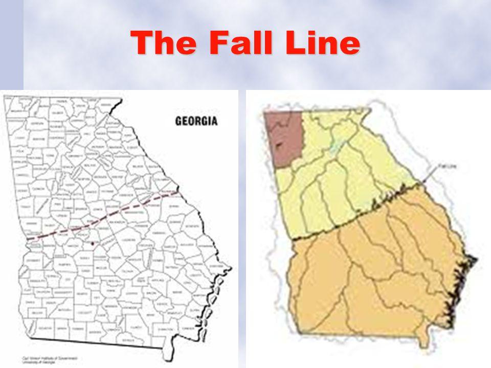Georgia Studies Unit Geography Of GeorgiaGeorgias Beginnings - Georgia map fall line