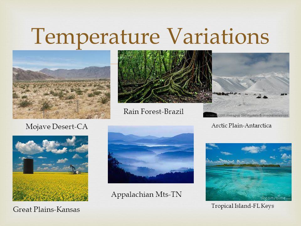Temperature Variations