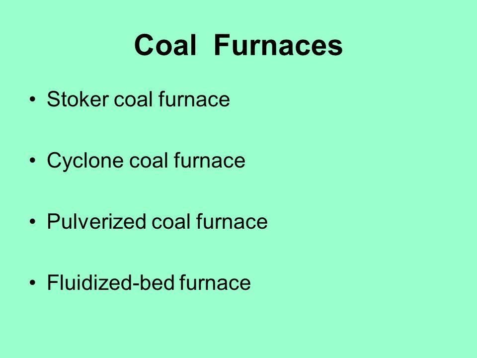 Coal Furnaces Stoker coal furnace Cyclone coal furnace