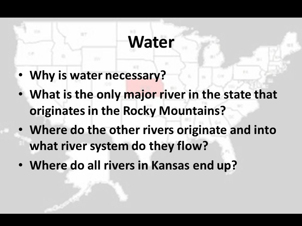 Water Why is water necessary