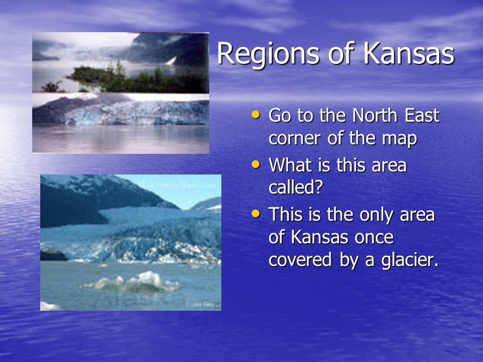 Regions of Kansas Go to the North East corner of the map