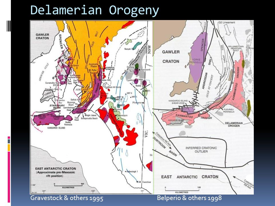 Delamerian Orogeny Gravestock & others 1995 Belperio & others 1998.