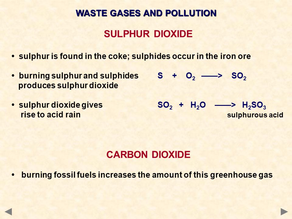WASTE GASES AND POLLUTION