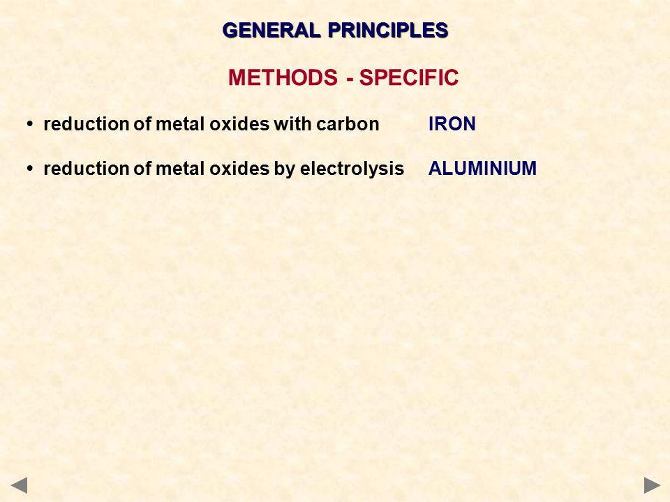 METHODS - SPECIFIC GENERAL PRINCIPLES