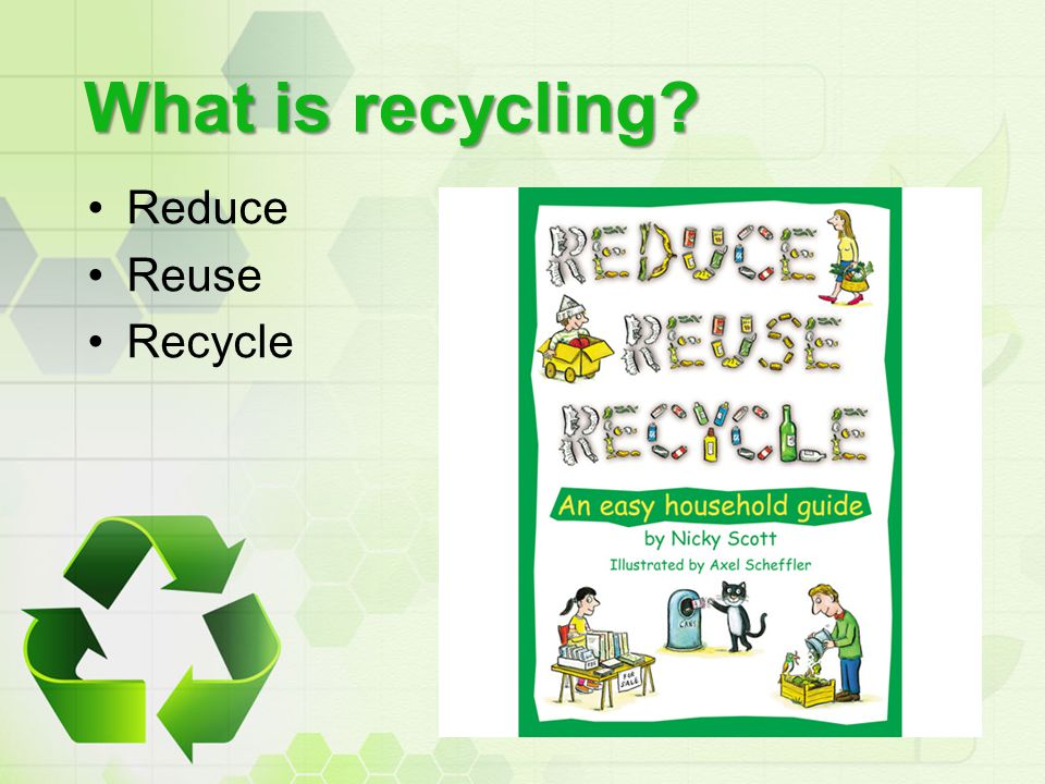 What is recycling Reduce Reuse Recycle