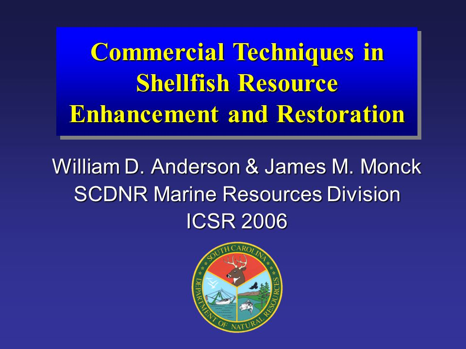 Commercial Techniques in Shellfish Resource Enhancement and Restoration