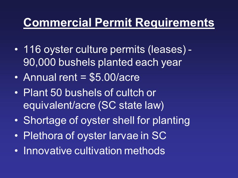 Commercial Permit Requirements
