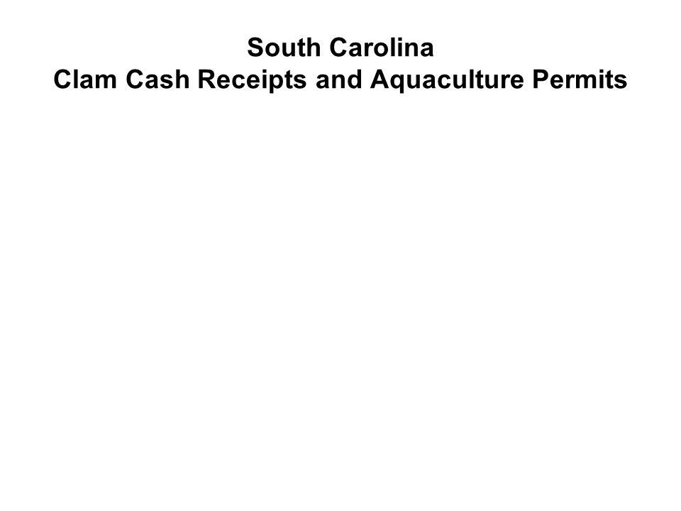 South Carolina Clam Cash Receipts and Aquaculture Permits
