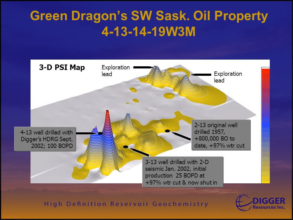 Green Dragon's SW Sask. Oil Property 4-13-14-19W3M