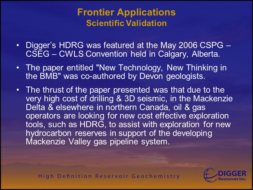 Frontier Applications Scientific Validation
