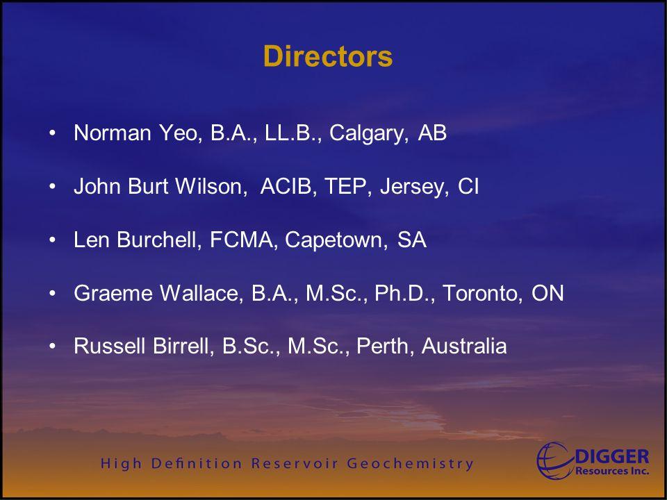 Directors Norman Yeo, B.A., LL.B., Calgary, AB