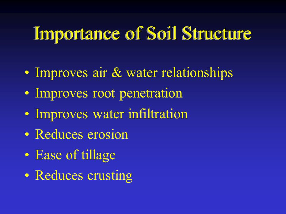 Importance of Soil Structure