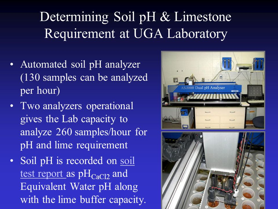 Determining Soil pH & Limestone Requirement at UGA Laboratory