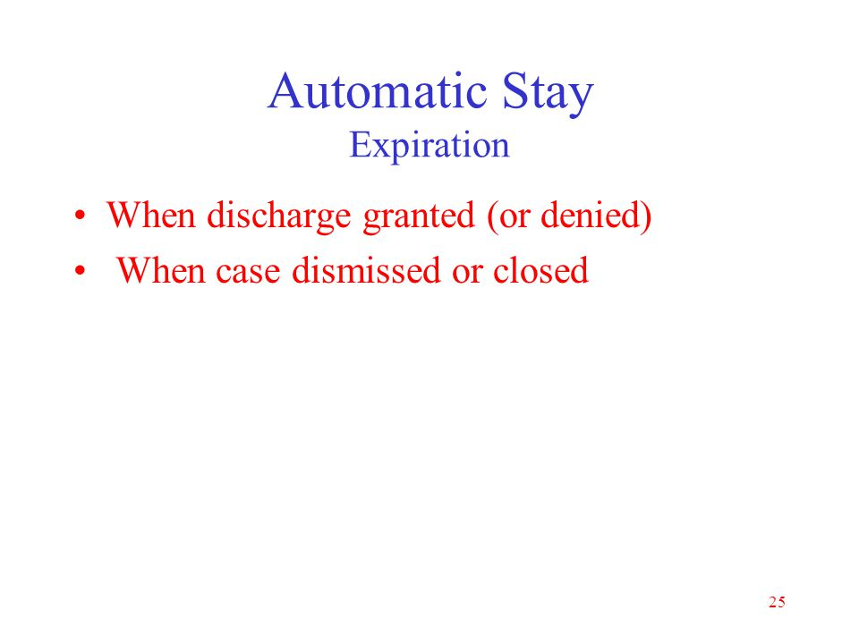 Automatic Stay Expiration