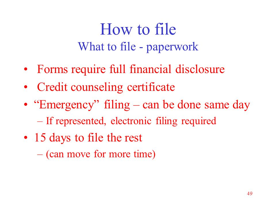 How to file What to file - paperwork