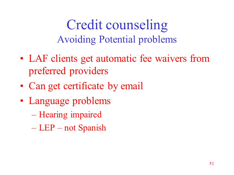 Credit counseling Avoiding Potential problems