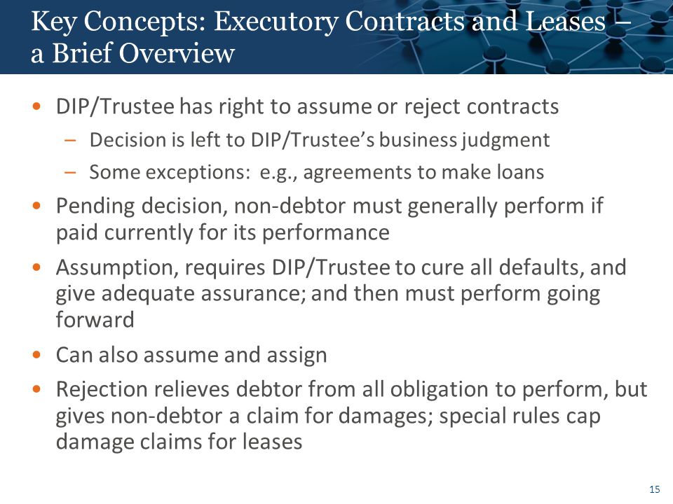 Key Concepts: Asset Sales Under Section 363 of the Bankruptcy Code