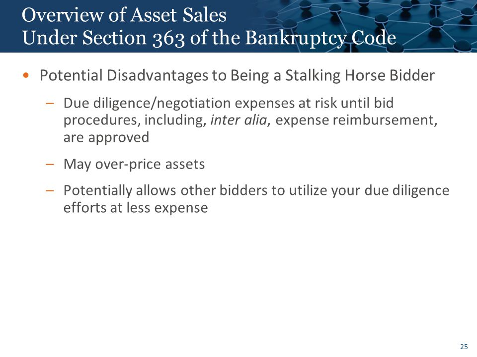 Overview of Asset Sales Under Section 363 of the Bankruptcy Code