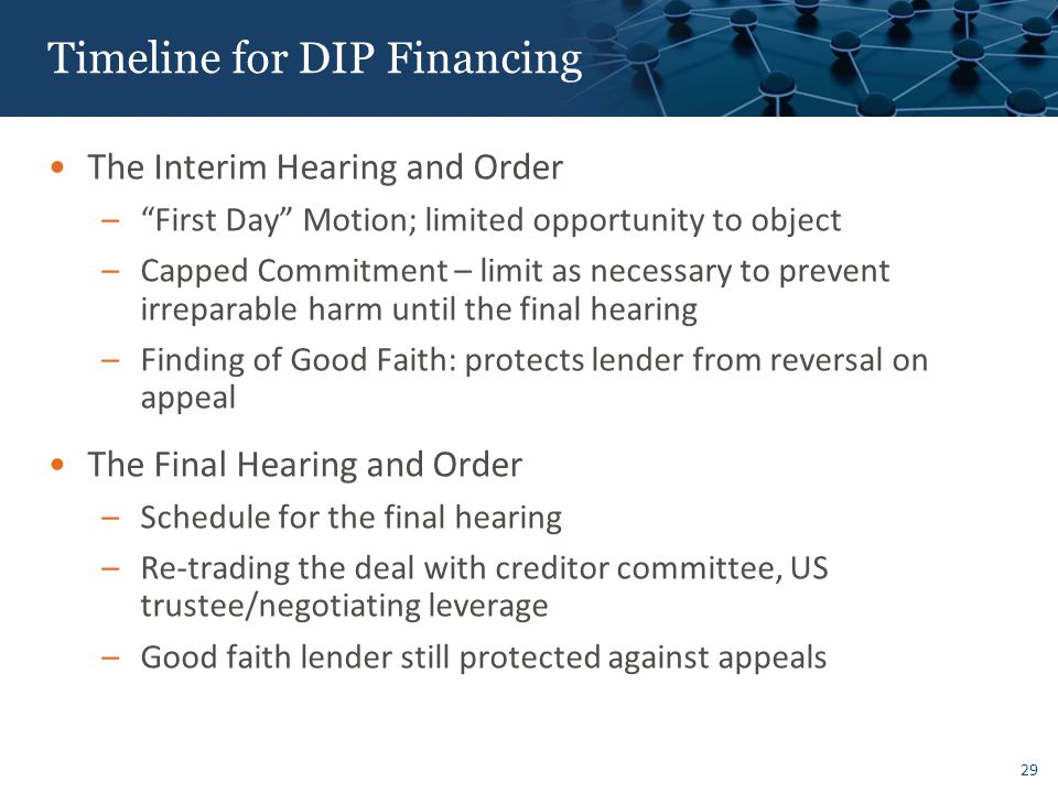 Reasons to Engage in DIP Financing: Offensive