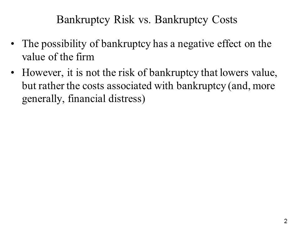 Bankruptcy Risk vs. Bankruptcy Costs