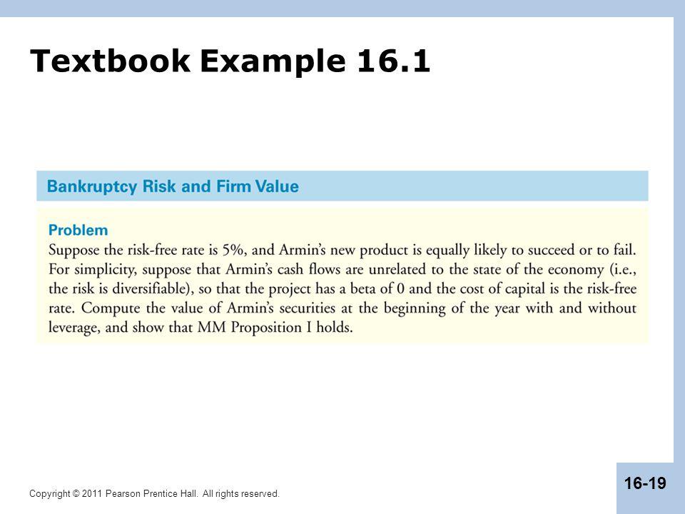 Textbook Example 16.1