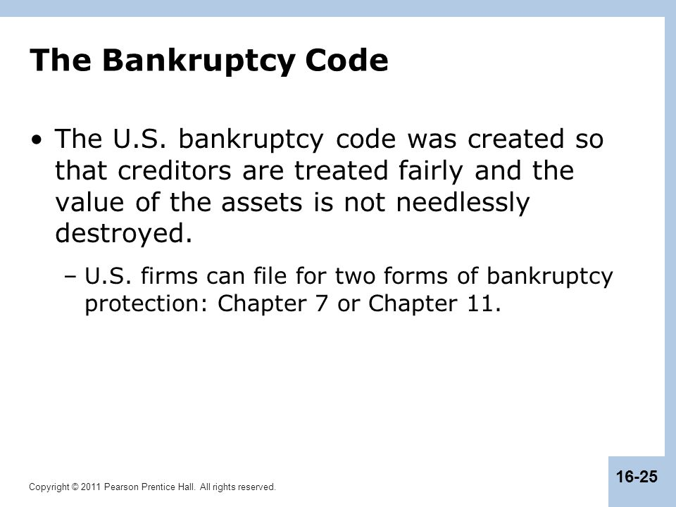 The Bankruptcy Code