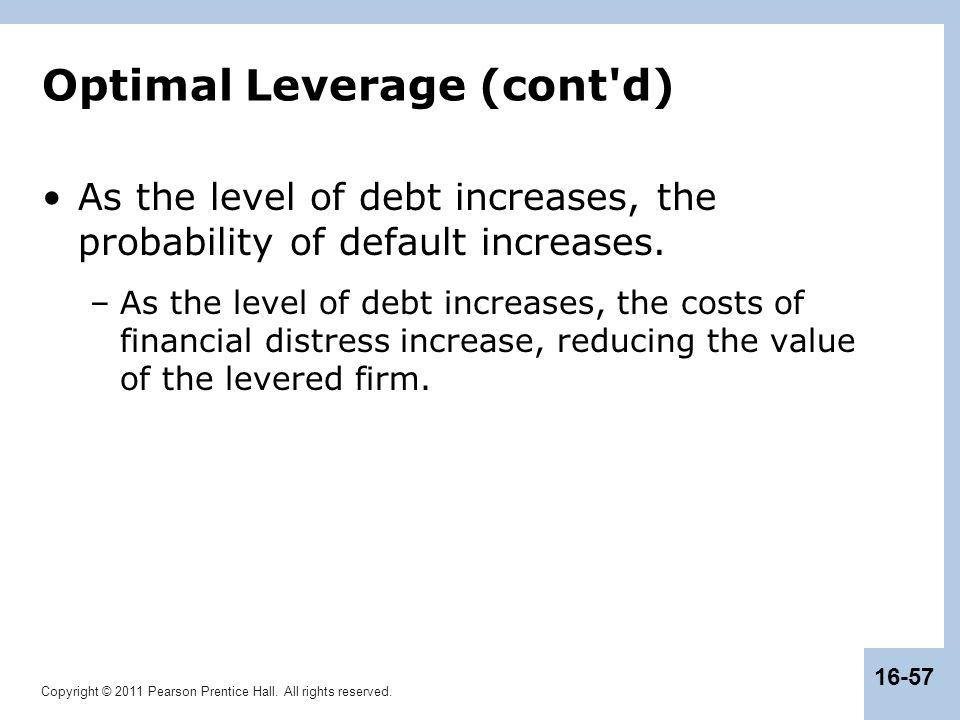Optimal Leverage (cont d)