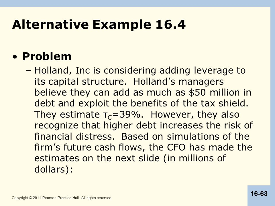 Alternative Example 16.4 Problem