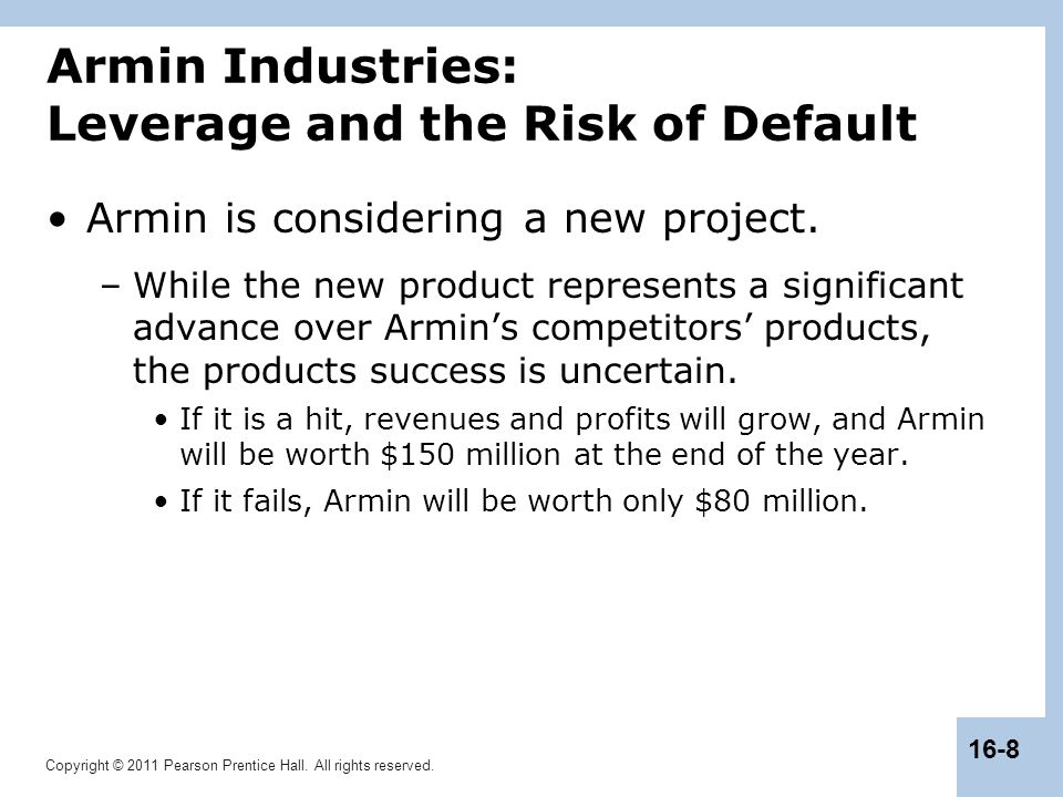 Armin Industries: Leverage and the Risk of Default