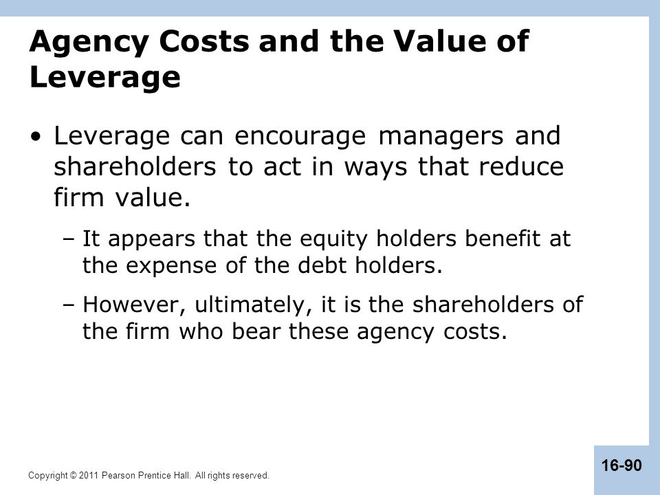 Agency Costs and the Value of Leverage