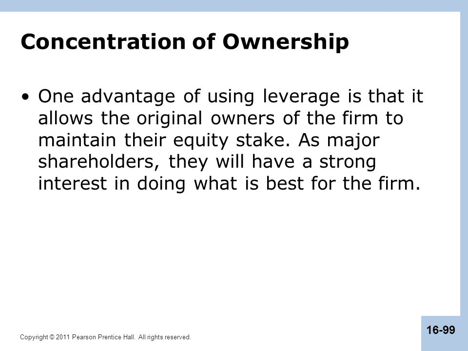 Concentration of Ownership
