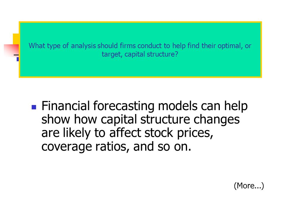 What type of analysis should firms conduct to help find their optimal, or target, capital structure
