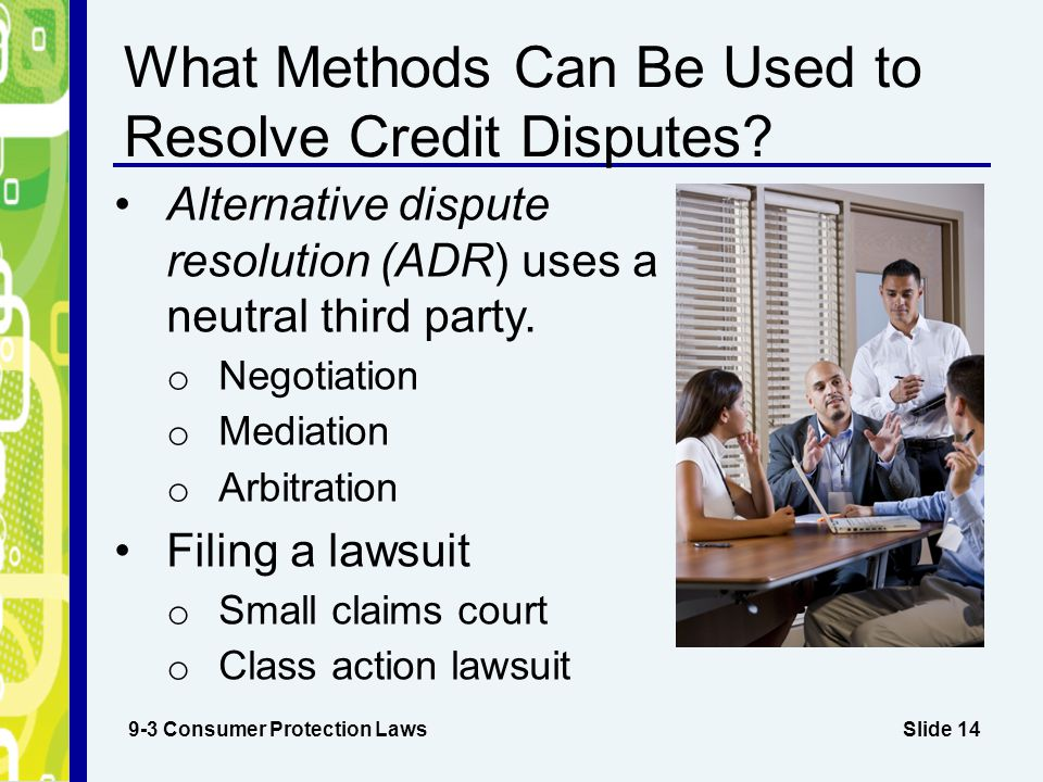 What Methods Can Be Used to Resolve Credit Disputes