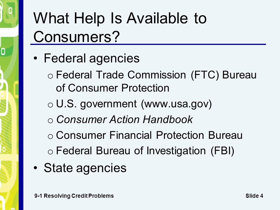 What Help Is Available to Consumers