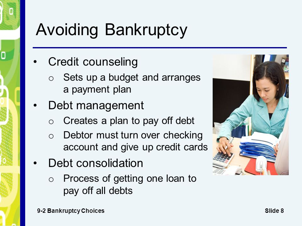 Avoiding Bankruptcy Credit counseling Debt management