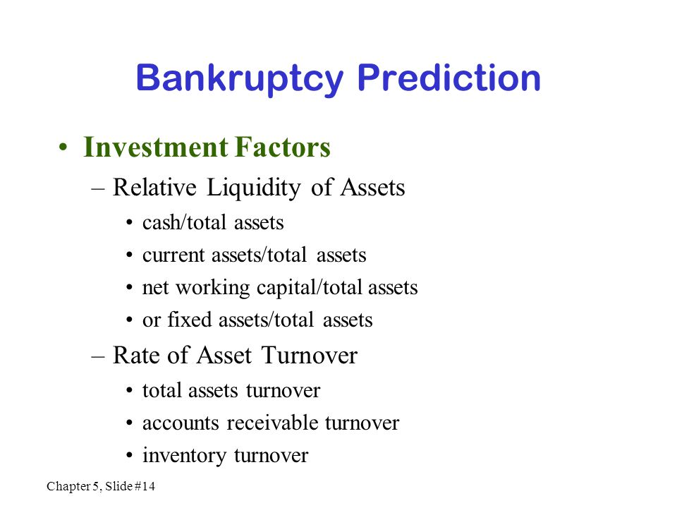 Bankruptcy Prediction