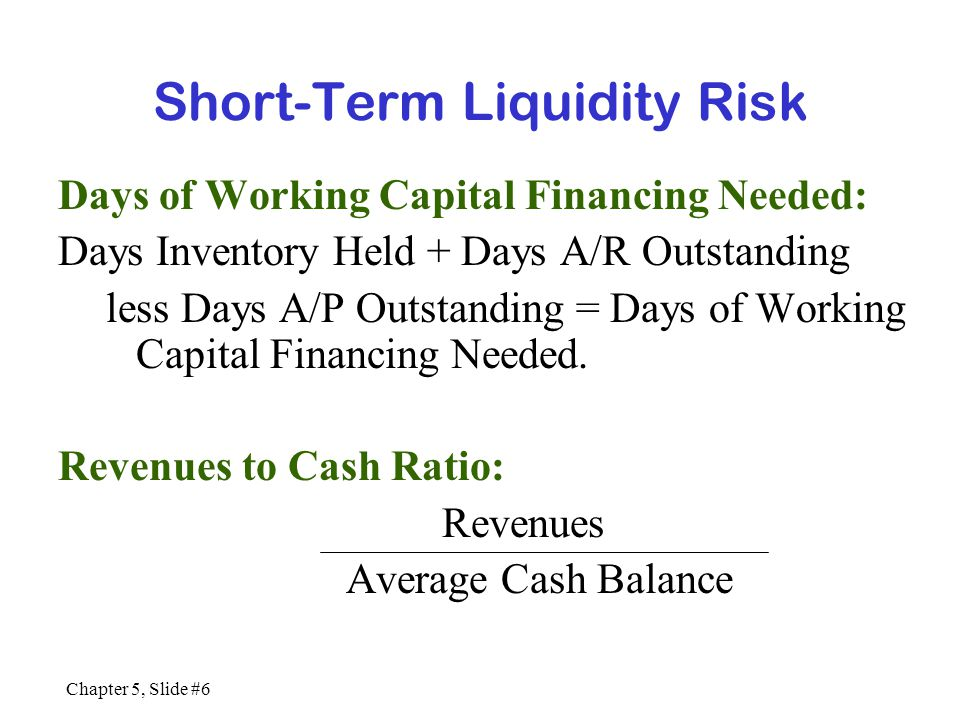 Short-Term Liquidity Risk