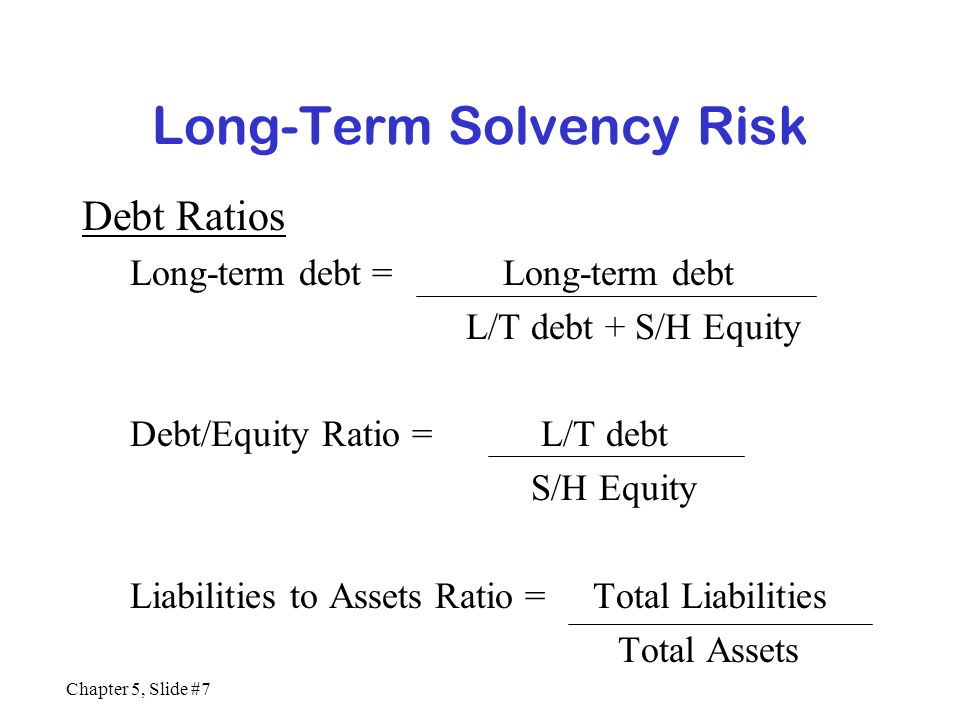 Long-Term Solvency Risk