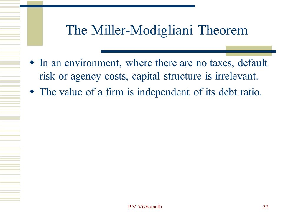 The Miller-Modigliani Theorem
