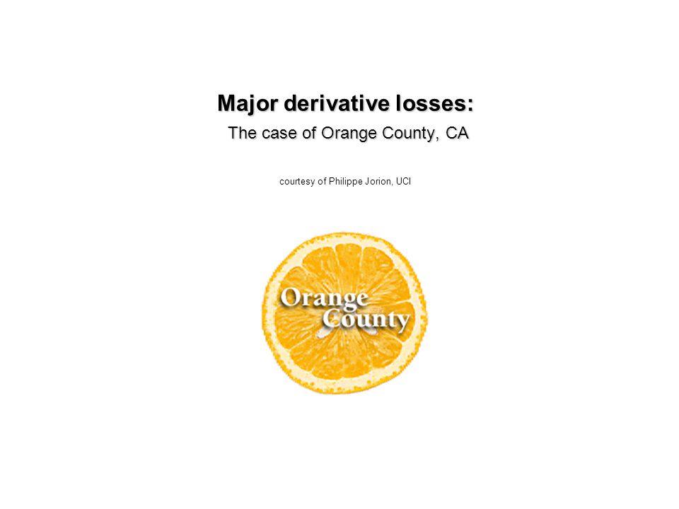 Major derivative losses: The case of Orange County, CA