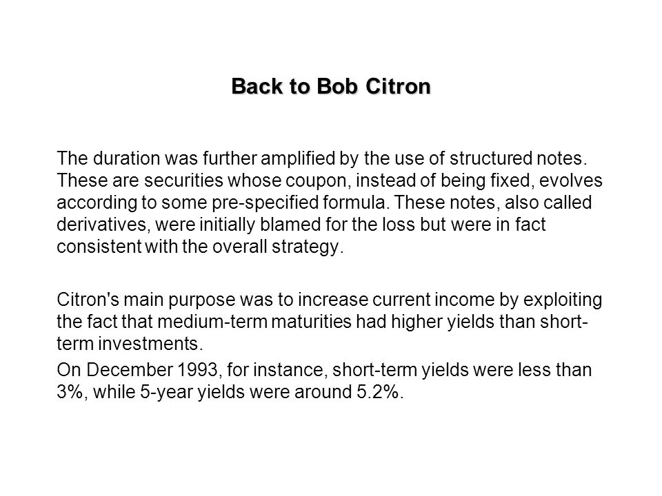 Back to Bob Citron
