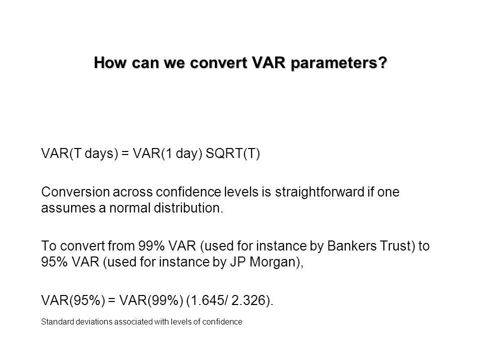 How can we convert VAR parameters