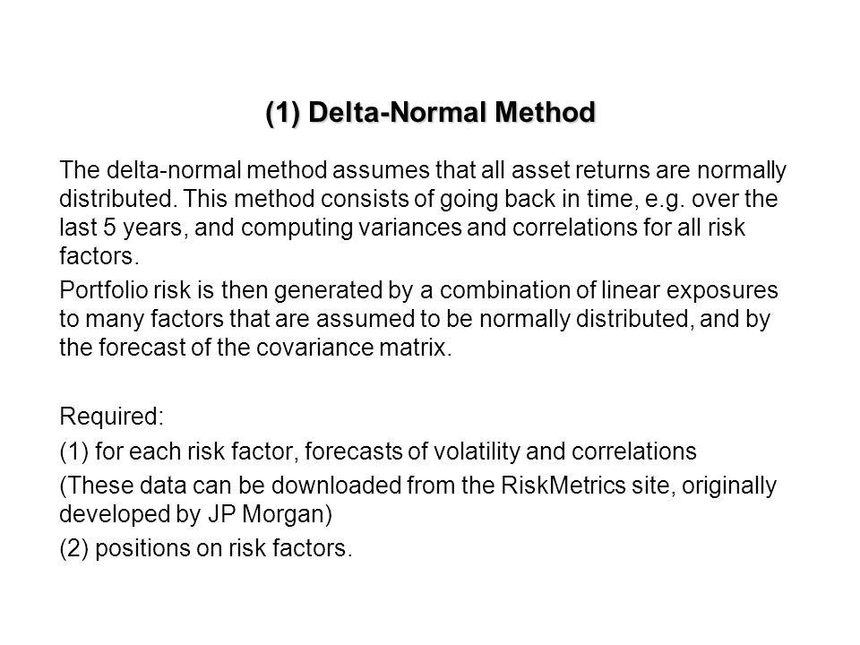 (1) Delta-Normal Method