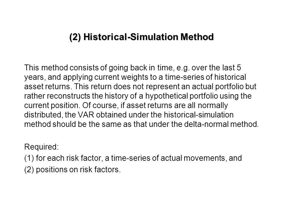 (2) Historical-Simulation Method