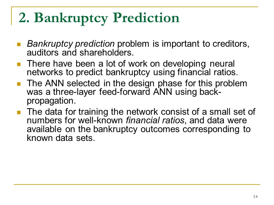 2. Bankruptcy Prediction