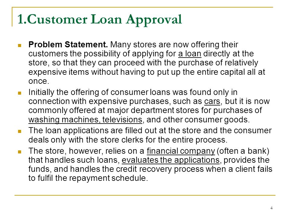 1.Customer Loan Approval