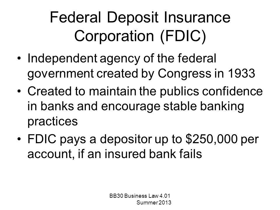 Federal Deposit Insurance Corporation (FDIC)