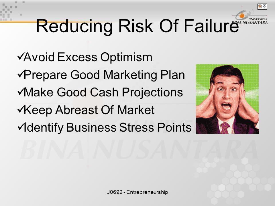 Reducing Risk Of Failure